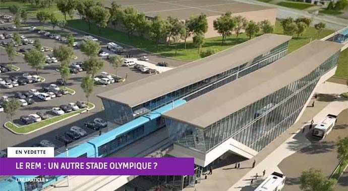 Le REM : un autre stade olympique ? WestmountMag.ca