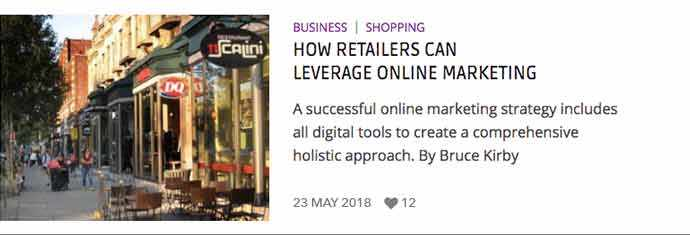 Link to Silver Maple article: How retailers can leverage online marketing