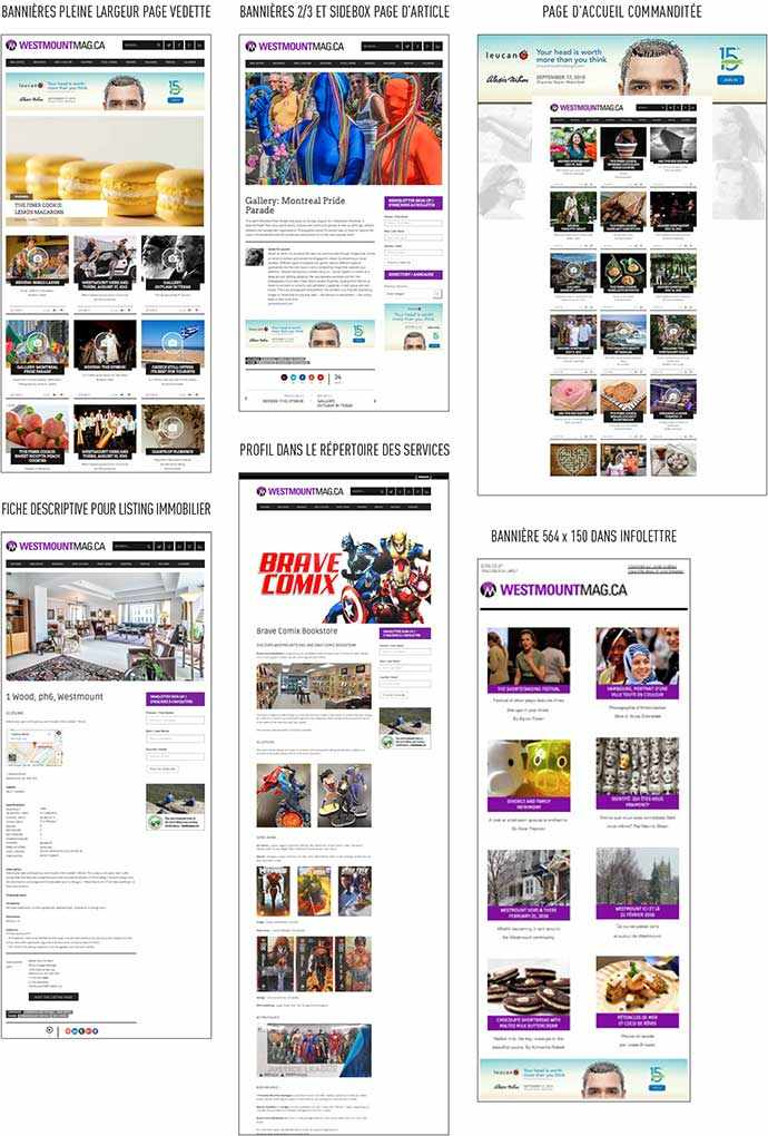 WestmountMag.ca - layouts