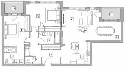 402 - 4th floor - 1 475 sq. ft.