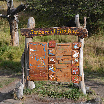 Patagonian hiking trail