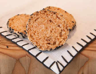 The Finer Cookie: Sesame Coconut Shortbreads