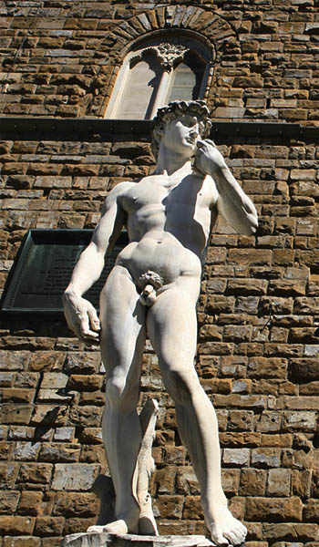 photo: statue of Michelangelo's David, Florence