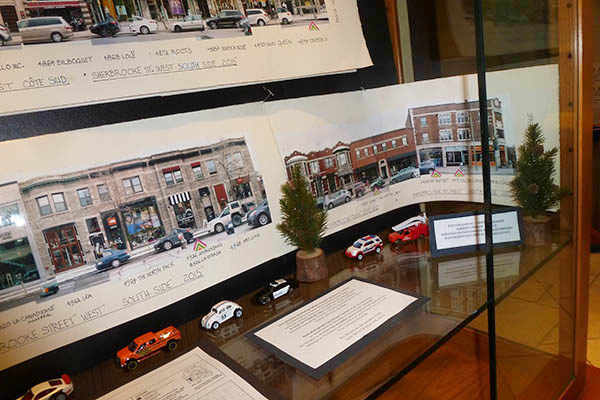 Sherbrooke Street businesses display at City Hall