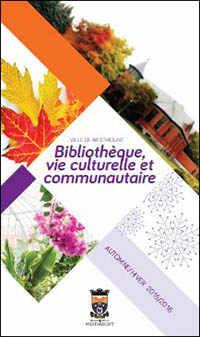image: brochure Bibliothèque de Westmount 2015-2016
