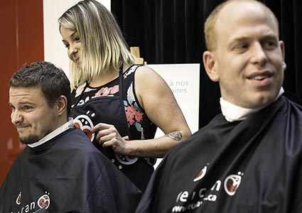 photo: Shaved Head Challenge participants