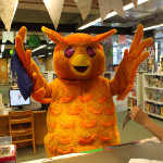 photo: Westmount Library mascot