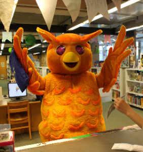 photo: Westmount Library mascot