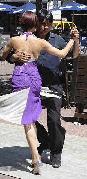 photo: Tango dancers in street of Buenos Aires