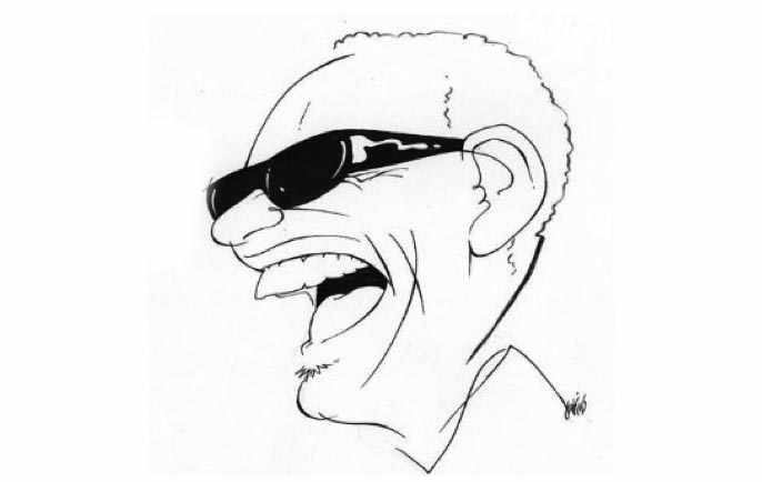 Caricature by Anthony Jenkins: Ray Charles