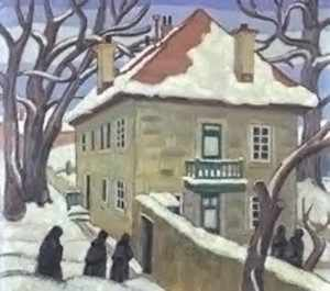 Gardener's Cottage, painting by Ethel Seath