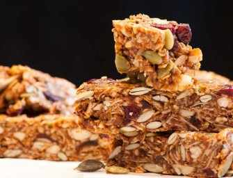The Finer Cookie: Chewy Granola Bars with Coconut and Cranberries
