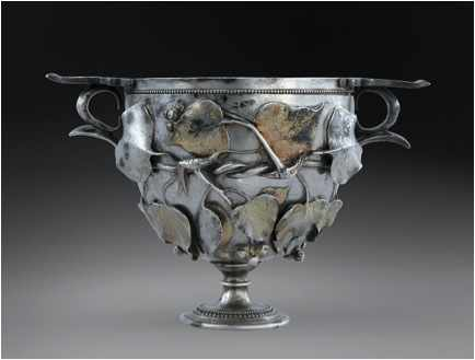 Silver drinking cup.