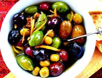 Marinated Olives with Preserved Lemon Dirty Vodka Martini