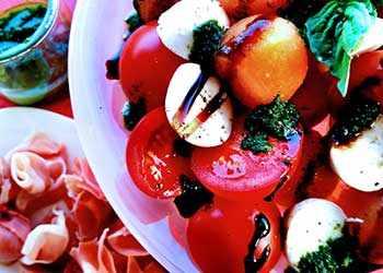 Prosciutto e Melone with Insalata Caprese - WestmountMag.ca