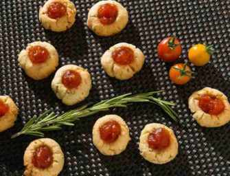 Rosemary Cookies <br>with Tomato Jam