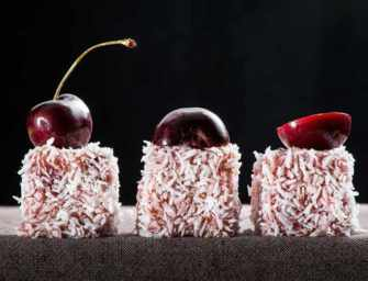 The Finer Cookie: <br>Cherry Lamingtons