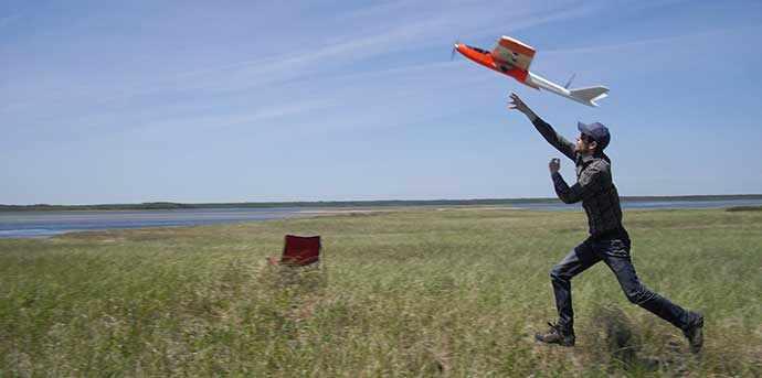 launching drone - WestmountMag.ca