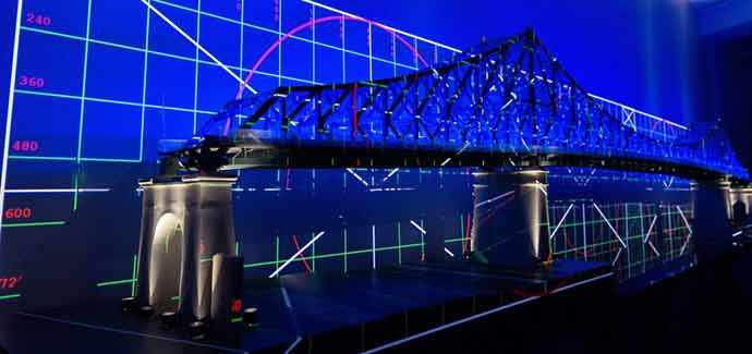 Illumination interactive du pont Jacques-Cartier – Connexions vivantes – photo : Moment Factory – WestmountMag.ca