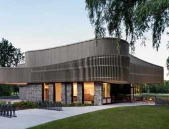 Un bâtiment en bois <br>pour un parc national