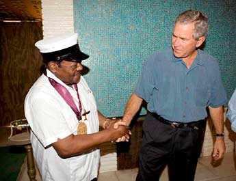 Fats Domino George W Bush - WestmountMag.ca