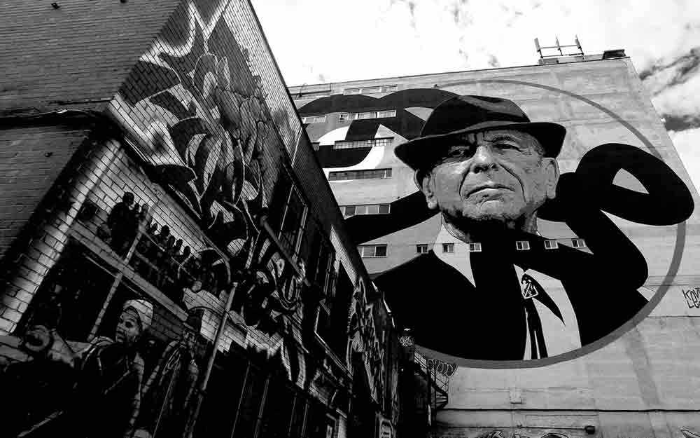 Tower of song a towering tribute concert westmount magazine for Mural leonard cohen