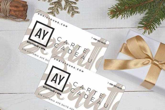 Annie Young Boutique Spa – WestmountMag.ca – carte cadeau / Gift Card – WestmountMag.ca