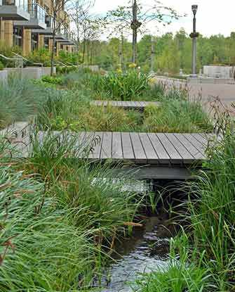 parking lot bioswale - WestmountMag.ca