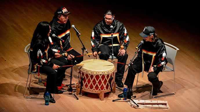 Buffalo Hat Singers - photo Kevin Nguyen – WestmountMag.ca