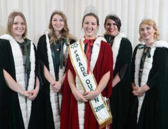 The United Irish Societies <br>of Montreal crown a queen