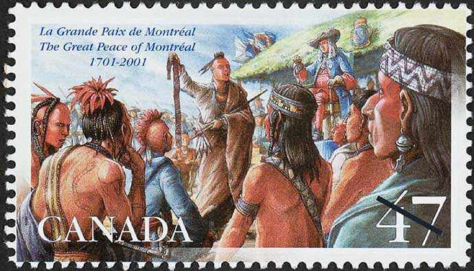 Image: the Great Peace stamp – WestmountMag.ca