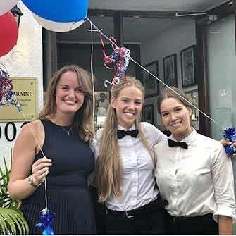Victoria Sorensen with staff - WestmountMag.ca