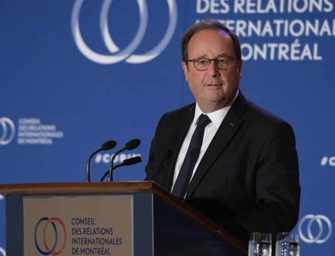 Le monde aujourd'hui <br>selon François Hollande