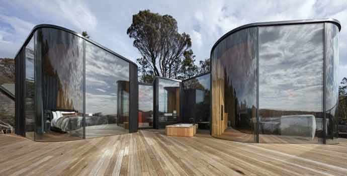 Freycinet Lodge Coastal Pavilions - Liminal Architecture - photo : Dianna Snape – WestmountMag.ca