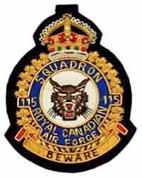 115 Fighter Squadron badge - WestmountMag.ca