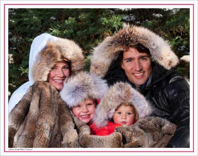 Trudeau family Christmas card 2011 - WestmountMag.ca