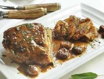 Love and Spices: Pan-roasted <br>turkey with chestnut sauce