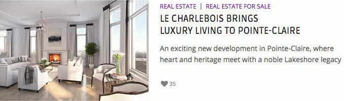Le Charlebois brings luxury living to Pointe-Claire