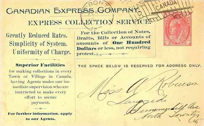 Canadian Express Company postcard - WestmountMag.ca