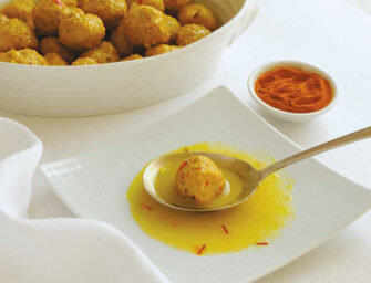 Love and Spices: Chicken Meatballs with Saffron Lemon Sauce