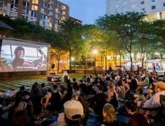 Cinéma urbain celebrates <br>outdoors music and movies