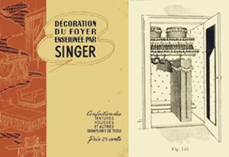 Décoration du foyer enseignée par Singer, Livret publié par The Singer Manufacturing Co., 1940. Collection Mode, textiles et vêtements C609, C609/E2.3 © Musée McCord