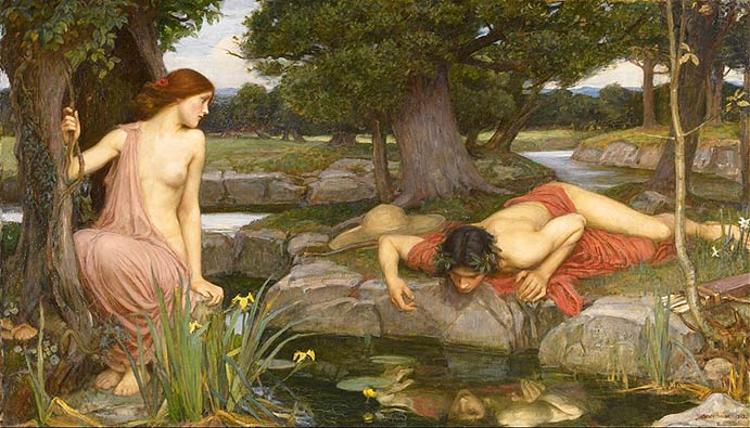 Echo andNarcissus by John William Waterhouse