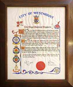 freedom of the city ceremonial parchment - WestmountMag.ca