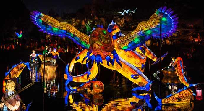 Gardens of Light and the mythical fish He Luo Yu - Photo: James St Laurent – WestmountMag.ca