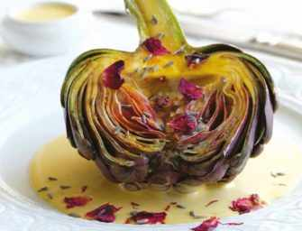 Love and Spices: Grilled artichoke <br>with saffron and lavender