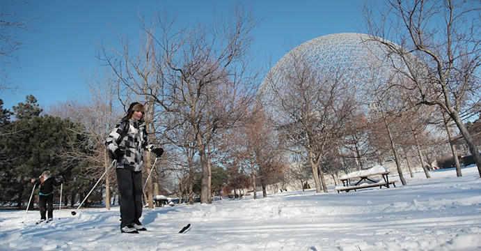 Ski au parc Jean-Drapeau