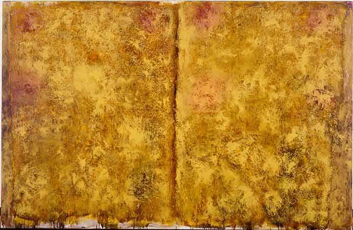 Jean McEwen (1923-1999), Grand fil à plomb no 2, 1961, huile et vernis sur toile. MBAM, achat, legs Horsley et Annie Townsend. © Succession Jean McEwen / SOCAN (2019). Photo MBAM.
