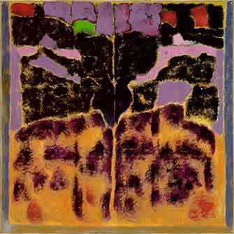 Jean McEwen (1923-1999), Poème barbare no 8, 1998, huile sur toile. MBAM, don à la mémoire de Jean McEwen, de la part de son épouse, Indra. © Succession Jean McEwen / SOCAN (2019).