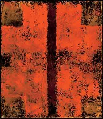 Jean McEwen (1923-1999), Sans titre, 1963 ou 1964, huile et vernis sur toile, 106,5 x 91,5 cm. MBAM, don de Merck Canada Inc. © Succession Jean McEwen / SOCAN (2019)